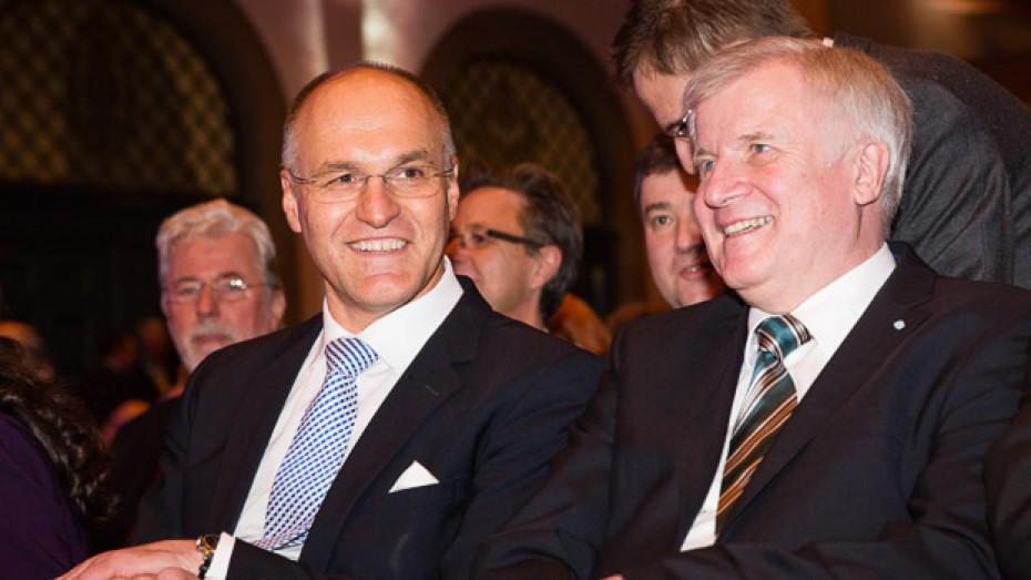 Augsburger OB Kurt Gribl mit Horst Seehofer