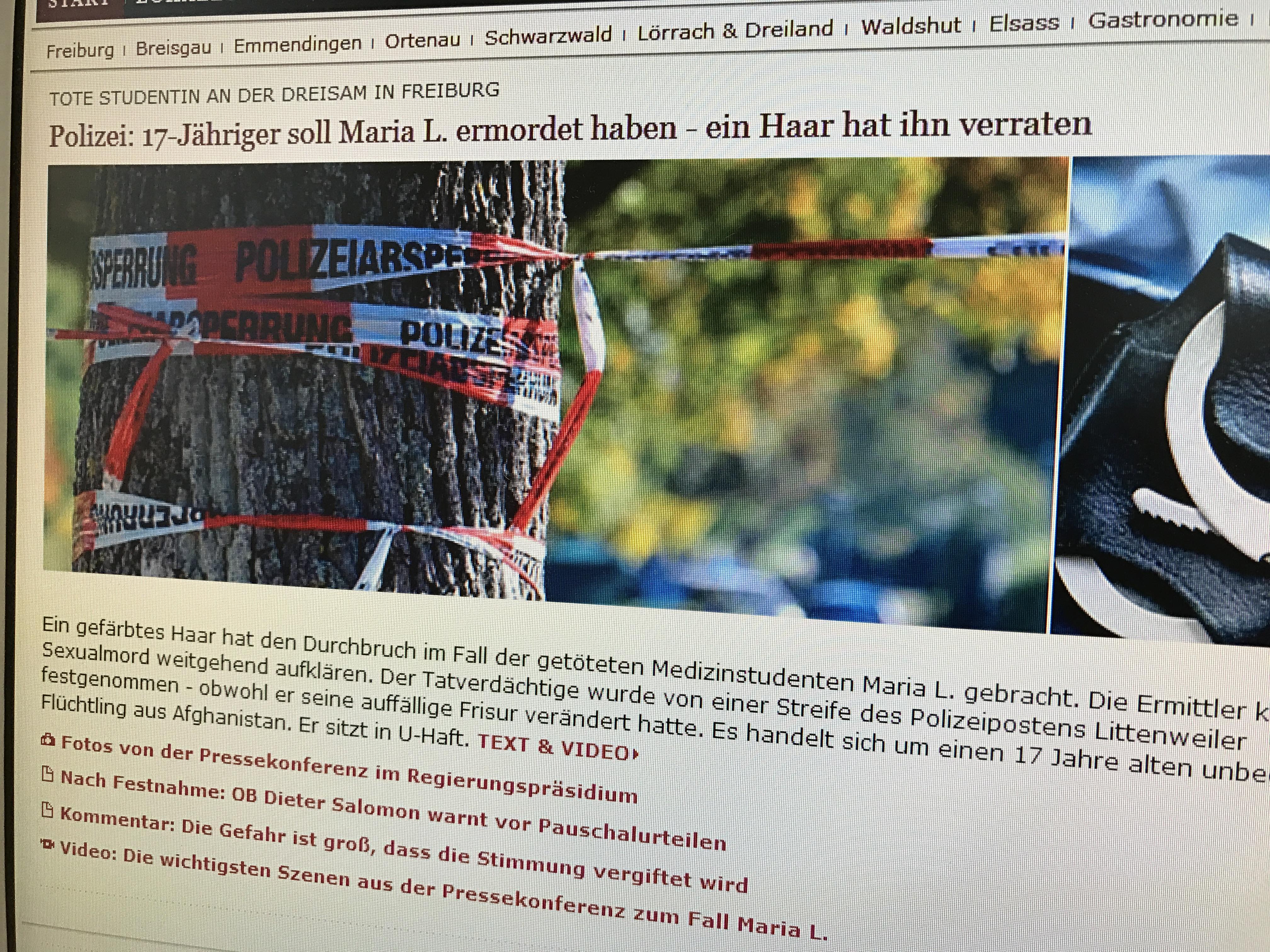 Vergewaltigt und getötet: Eine 29-jährige Freiburger Studentin