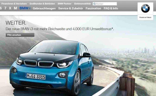 Anzeige BMW i3