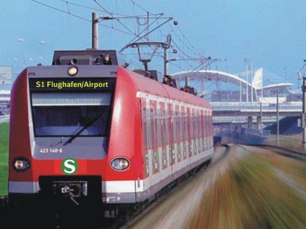 Augsburg zum Münchner Flughafen